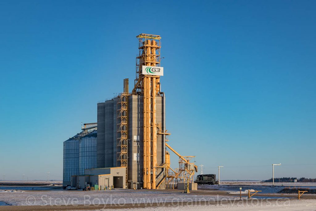 G3 grain elevator at Bloom, MB, Dec 2017. Contributed by Steve Boyko.