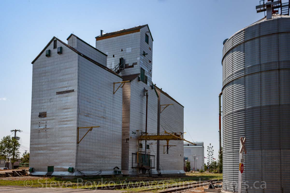 "Former Manitoba Pool ""A"" grain elevator in Boissevain, MB, Aug 2014. Contributed by Steve Boyko."