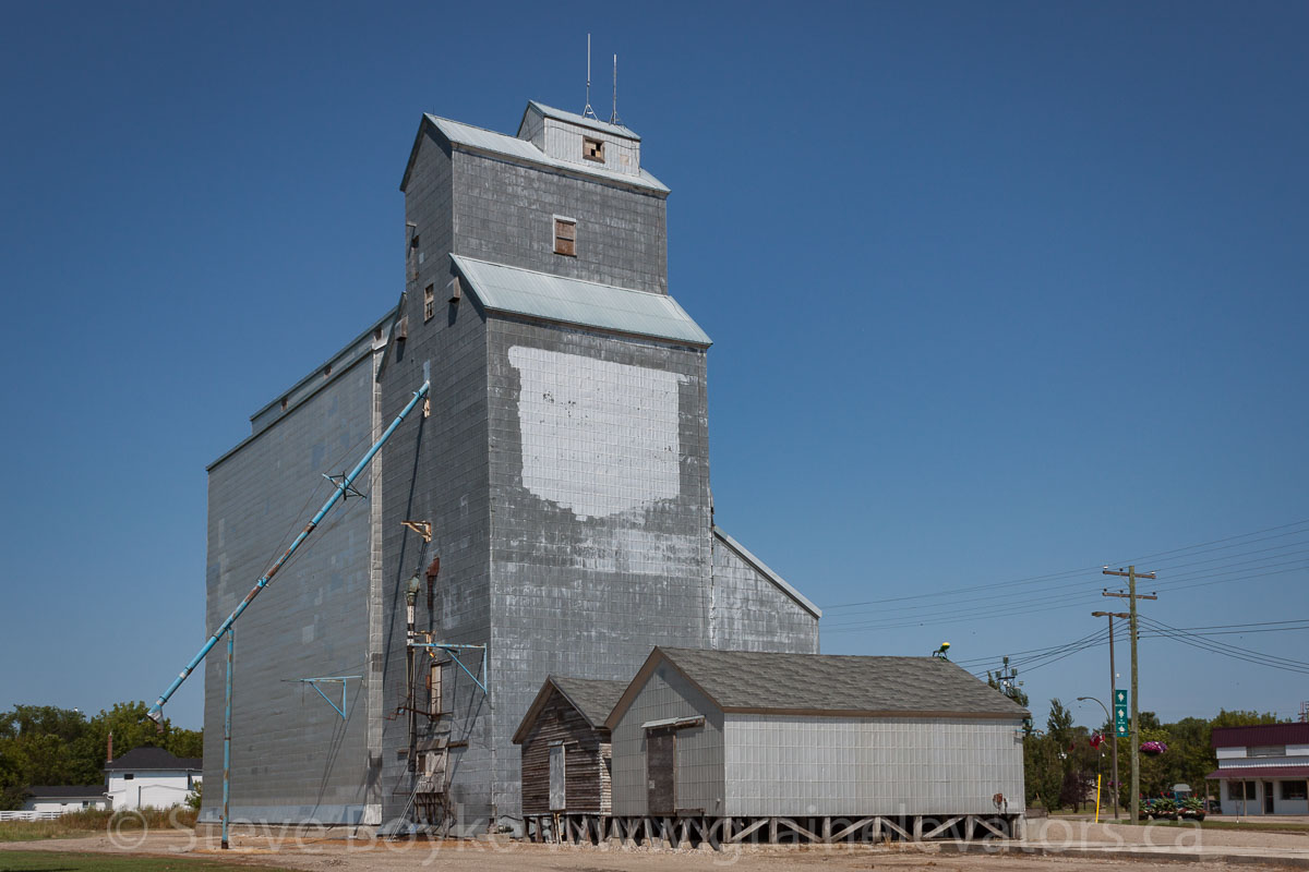 Ex UGG grain elevator, Boissevain, MB. Aug 2014. Contributed by Steve Boyko.