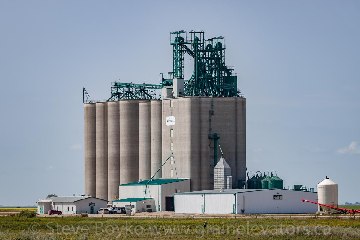 Viterra grain elevator near Boissevain, MB, Aug 2014. Contributed by Steve Boyko.