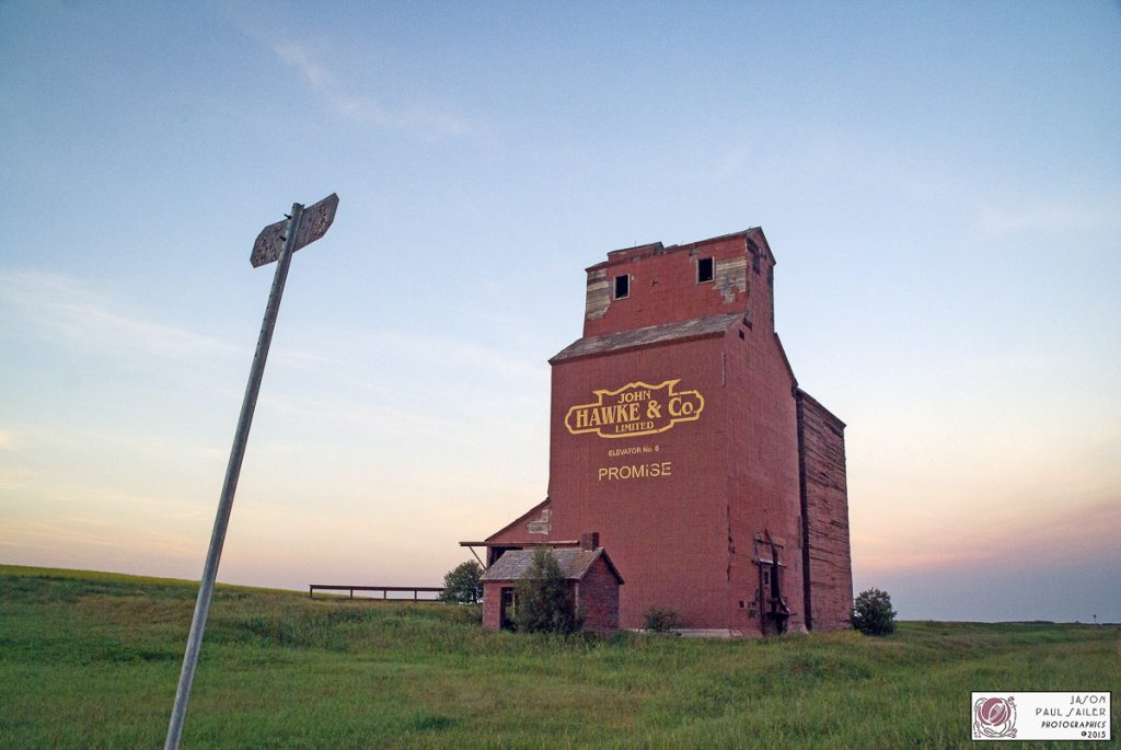 Brooking, SK grain elevator, July 2015. Contributed by Jason Paul Sailer.
