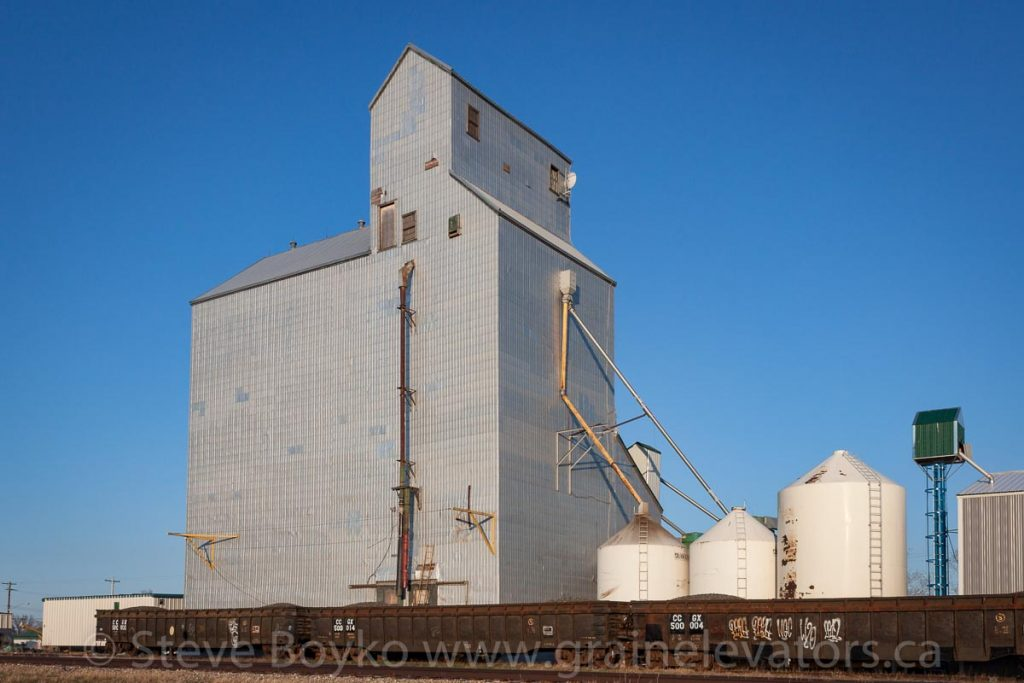 The Brunkild, MB grain elevator, May 2014. Contributed by Steve Boyko.