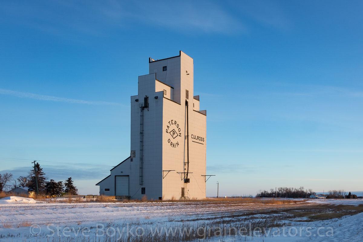 Grain elevator in Culross, MB, Jan 2018. Contributed by Steve Boyko.
