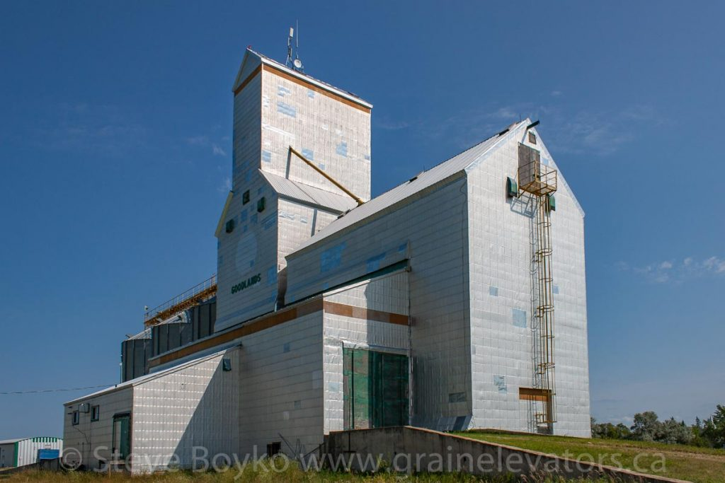 Goodlands, MB grain elevator, Aug 2014. Contributed by Steve Boyko.