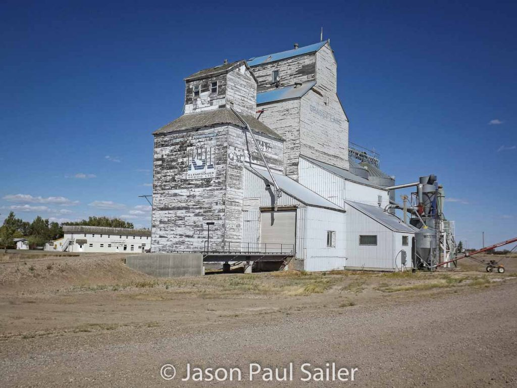 Grassy Lake, AB grain elevator, Sept 2012. Contributed by Jason Paul Sailer.