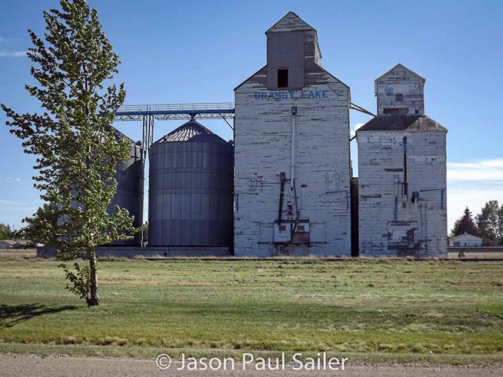 Grain elevator in Grassy Lake, AB, Sept 2012. Contributed by Jason Paul Sailer.