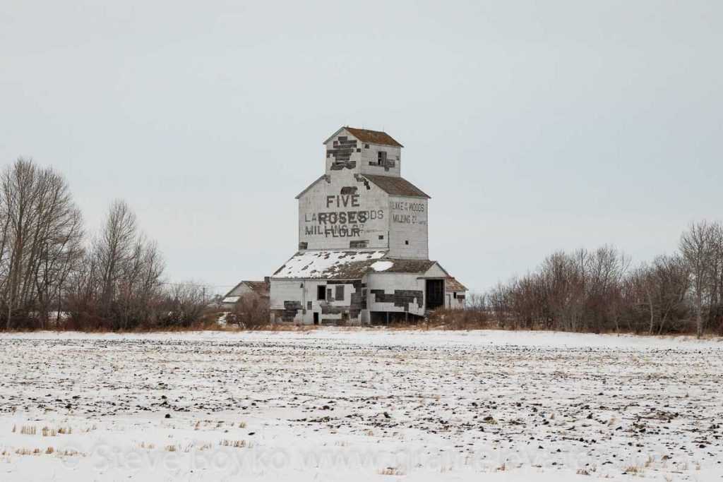 The Harmsworth, MB grain elevator, Dec 2017. Contributed by Steve Boyko.