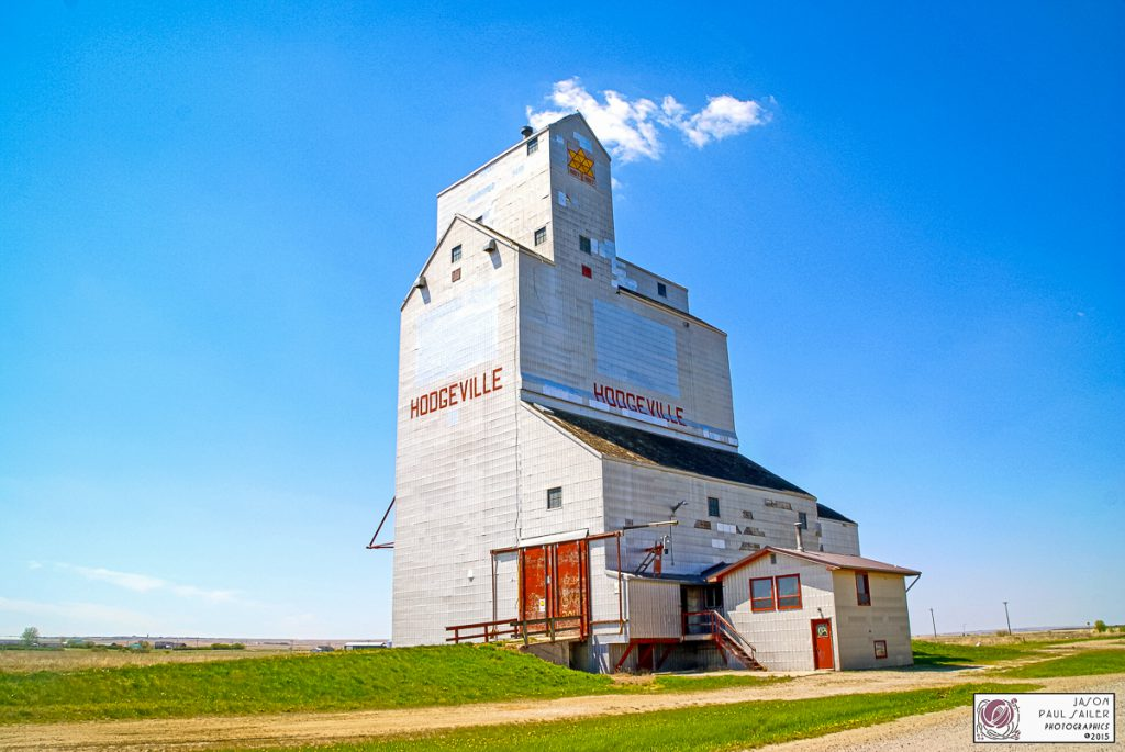 Hodgeville, SK grain elevator, May 2015. Contributed by Jason Paul Sailer.