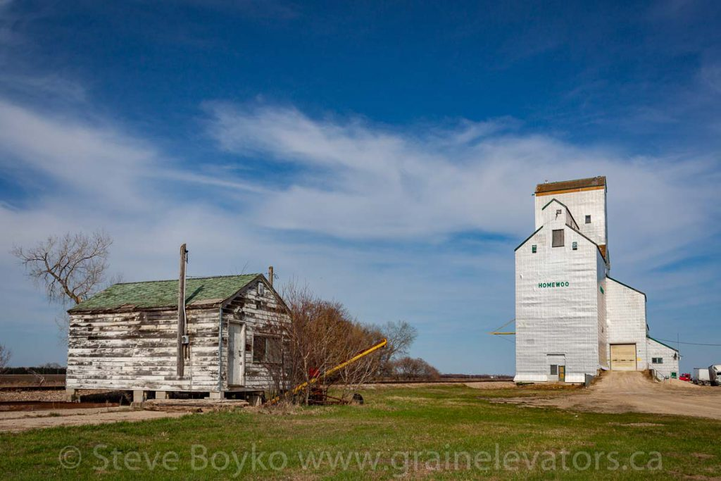 Homewood, MB grain elevator, May 2014. Contributed by Steve Boyko.