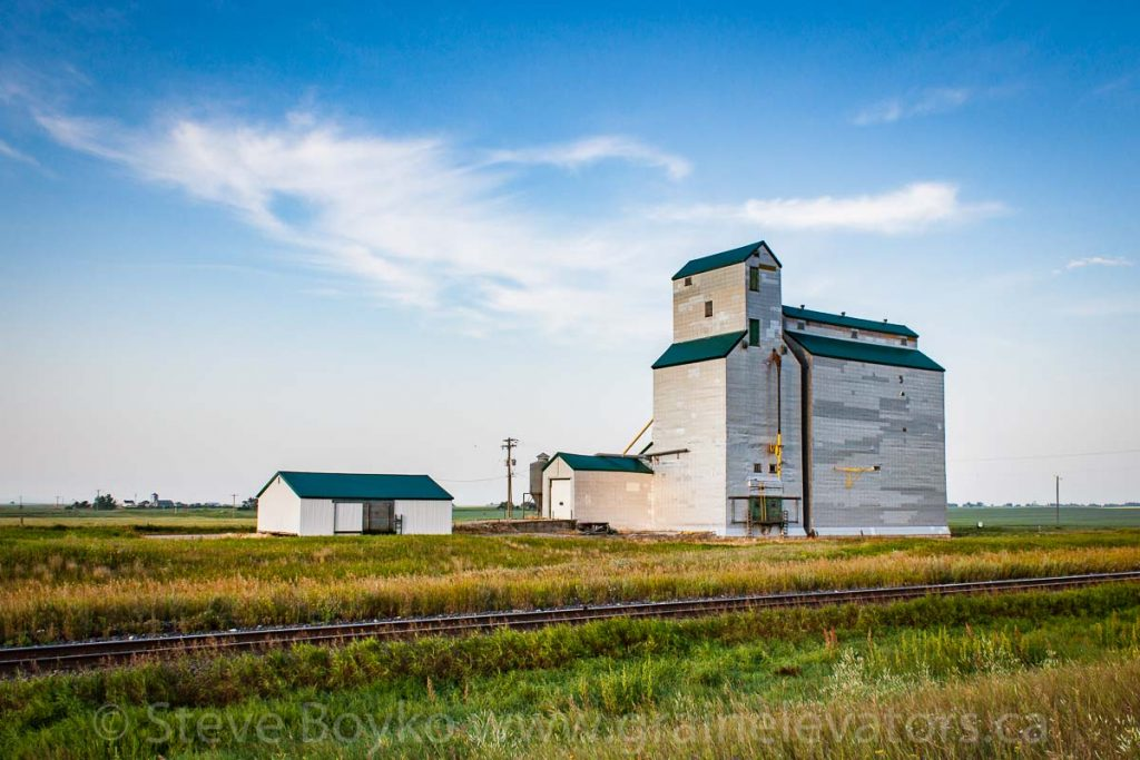 Justice, MB grain elevator, Aug 2014. Contributed by Steve Boyko.