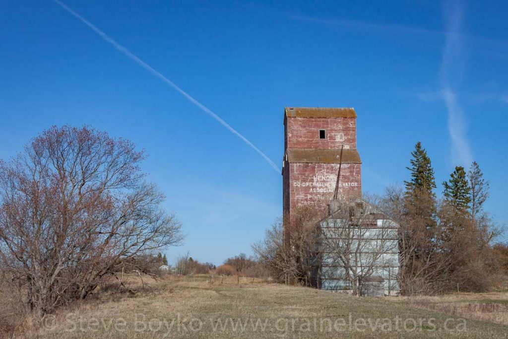 Along the former railway right-of-way, Lenore, MB, April 2016. Contributed by Steve Boyko.