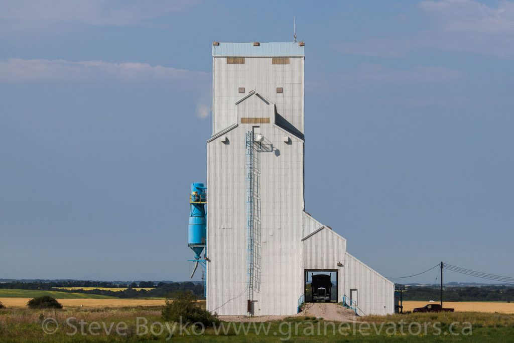 Truck in Maripolis grain elevator, August 2014. Contributed by Steve Boyko.