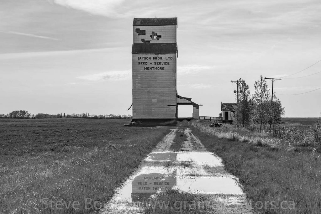 Mentmore grain elevator, May 2014. Contributed by Steve Boyko.