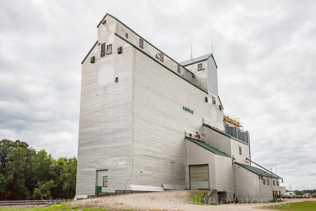 Oakville, MB grain elevator, July 2014. Contributed by Steve Boyko.