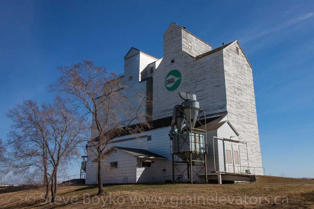 Ex Cargill grain elevator, in Rivers, MB, April 2016. Contributed by Steve Boyko.