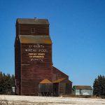 Warwick, AB grain elevator. Copyright by BW Bandy.
