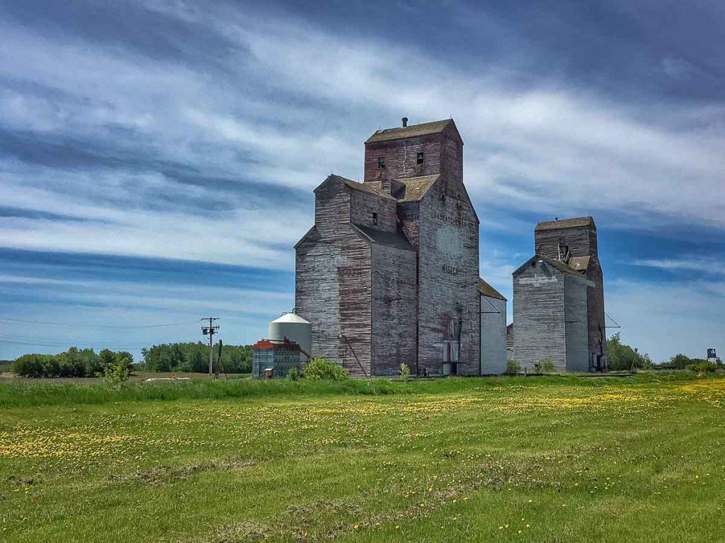 The grain elevators in Waseca, SK. Copyright by Jenn Tanaka.