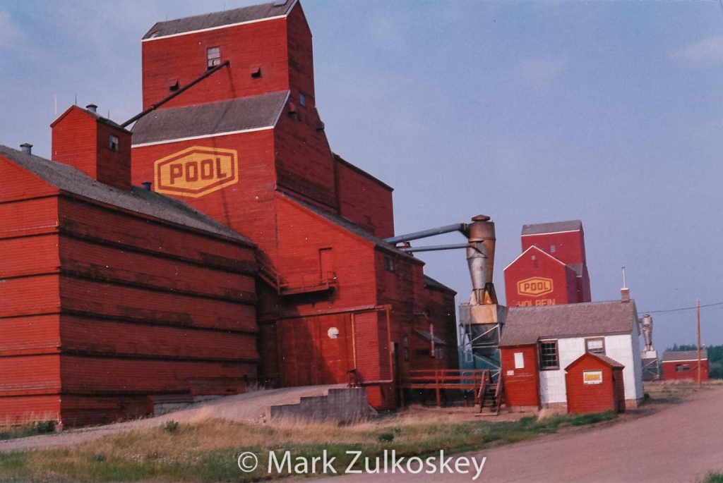 Holbein, SK grain elevators. Contributed by Mark Zulkoskey.