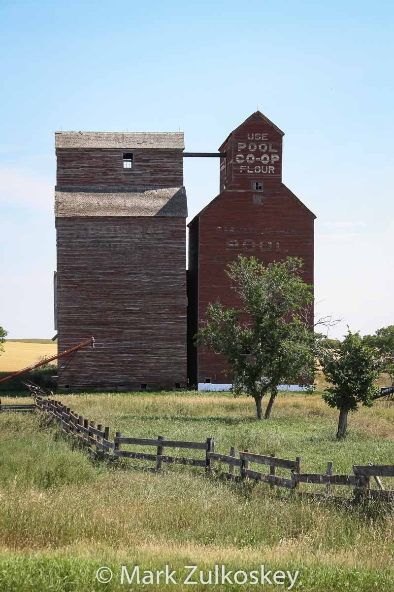 The former Loverna, SK grain elevator. Contributed by Mark Zulkoskey.