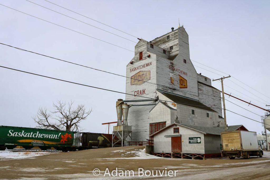 Craik, SK grain elevator, Feb 2018. Contributed by Adam Bouvier.