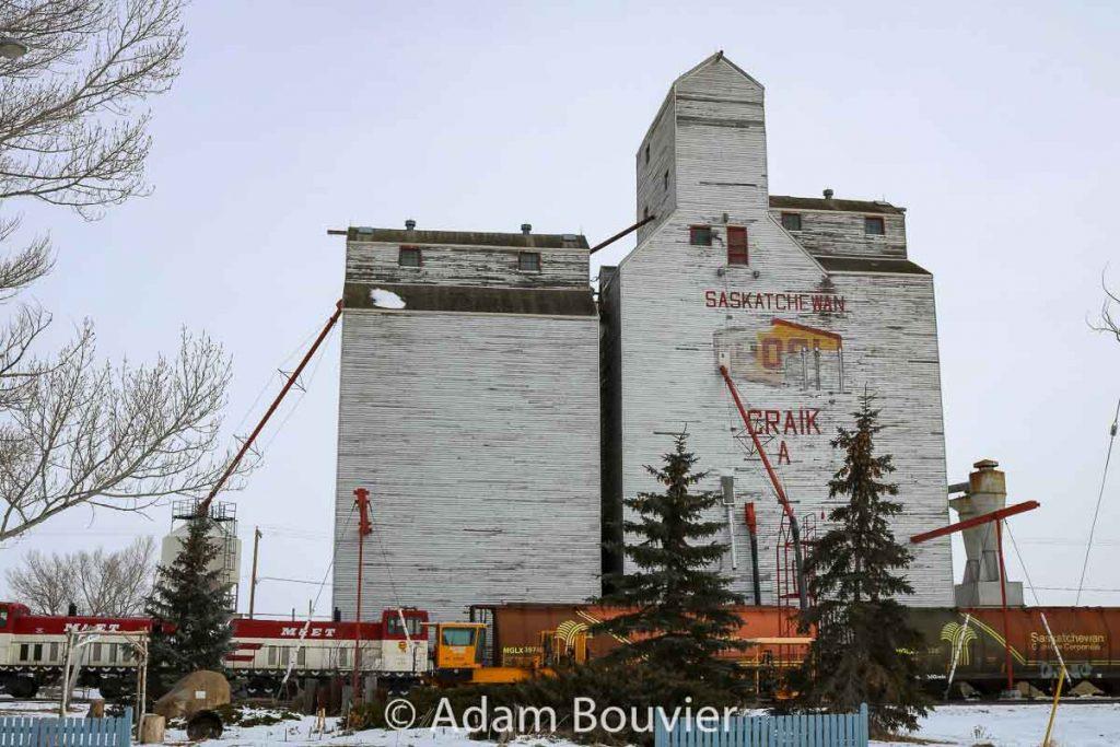 Ex Pool grain elevator in Craik, SK, Feb 2018. Contributed by Adam Bouvier.