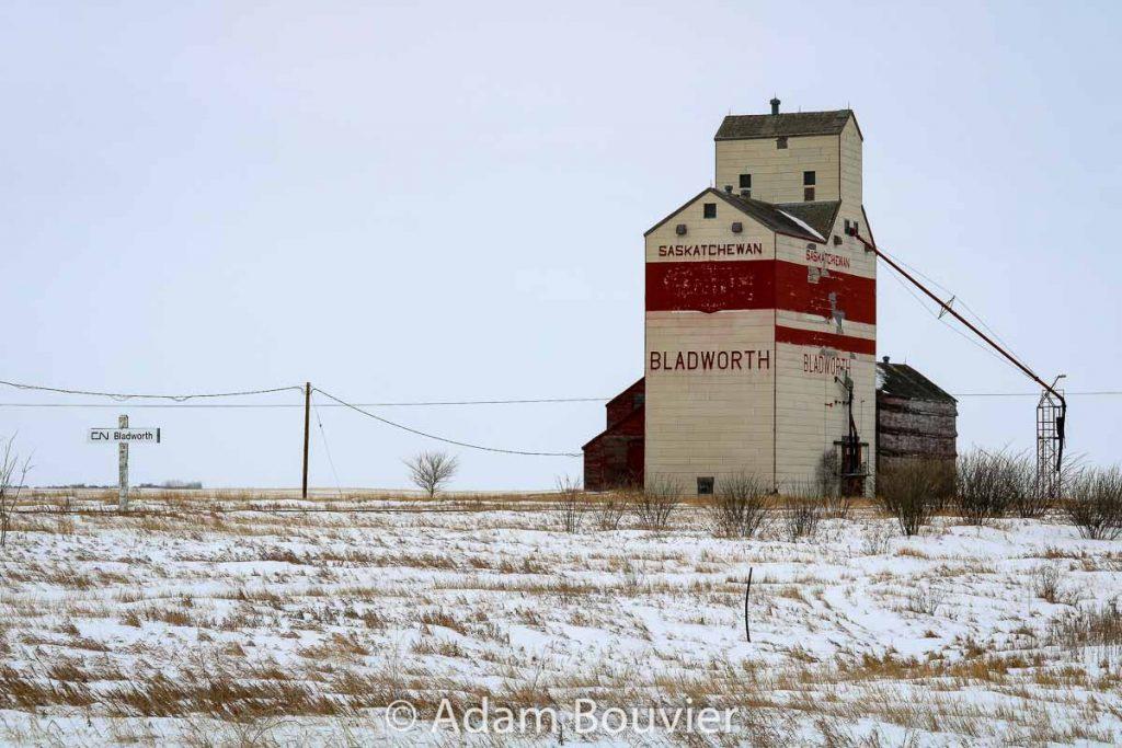 The Bladworth, SK grain elevator, Feb 2018. Contributed by Adam Bouvier.