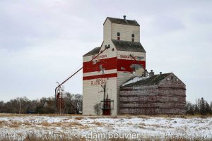 The Bladworth, SK grain elevator, Feb 2018. Contributed by Adam Bouvier.