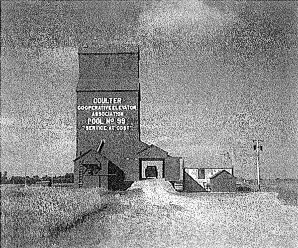 Coulter, MB grain elevator. Date unknown.