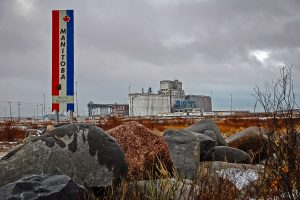The grain elevator in Churchill, Manitoba, Oct 2006. Copyright by Gary Rich.