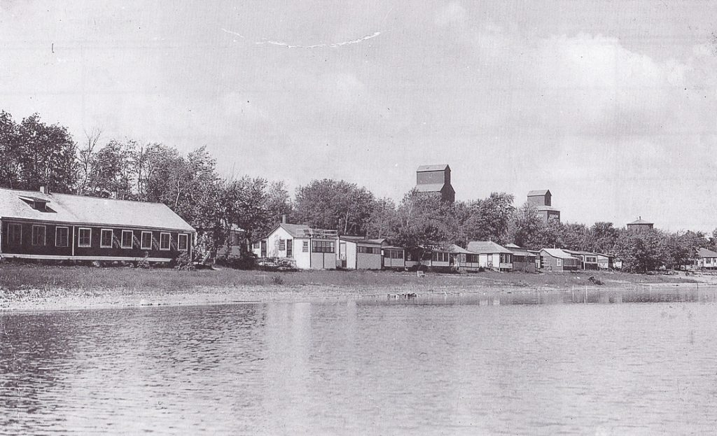 Grain elevators in Sandy Lake, MB, date unknown.