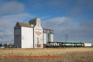 The grain elevator in Neville, SK, Nov 2008. Contributed by Marc Simpson.