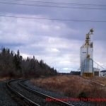 Grain elevator in The Pas, MB, Apr 2000. Contributed by Marc Simpson.