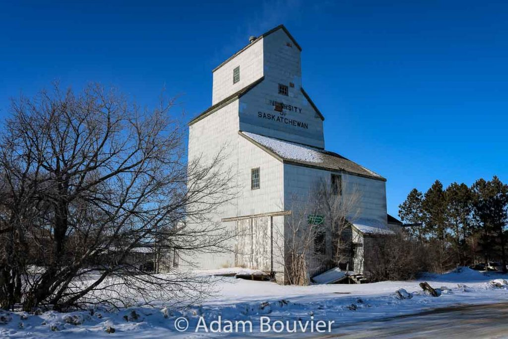 Grain elevator at the University of Saskatchewan, Saskatoon, Feb 2018. Contributed by Adam Bouvier.