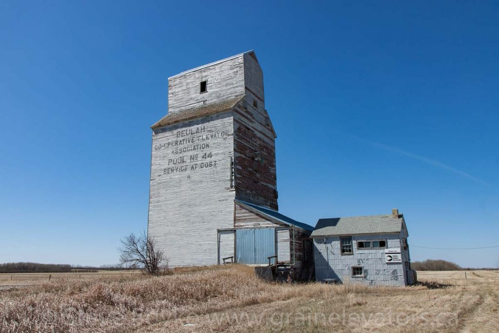 The former Manitoba Pool grain elevator in Beulah, MB, April 2016. Contributed by Steve Boyko.