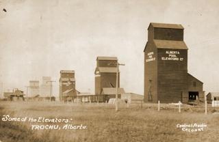 Grain elevators in Trochu, AB.