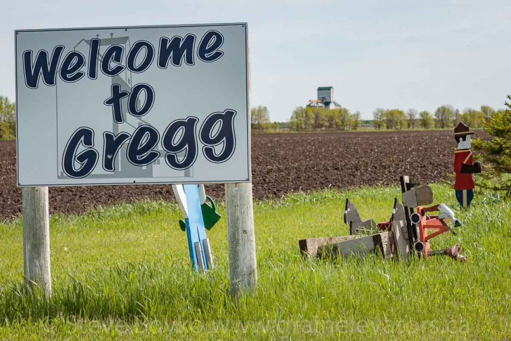 Welcome to Gregg sign, May 2014. Contributed by Steve Boyko.