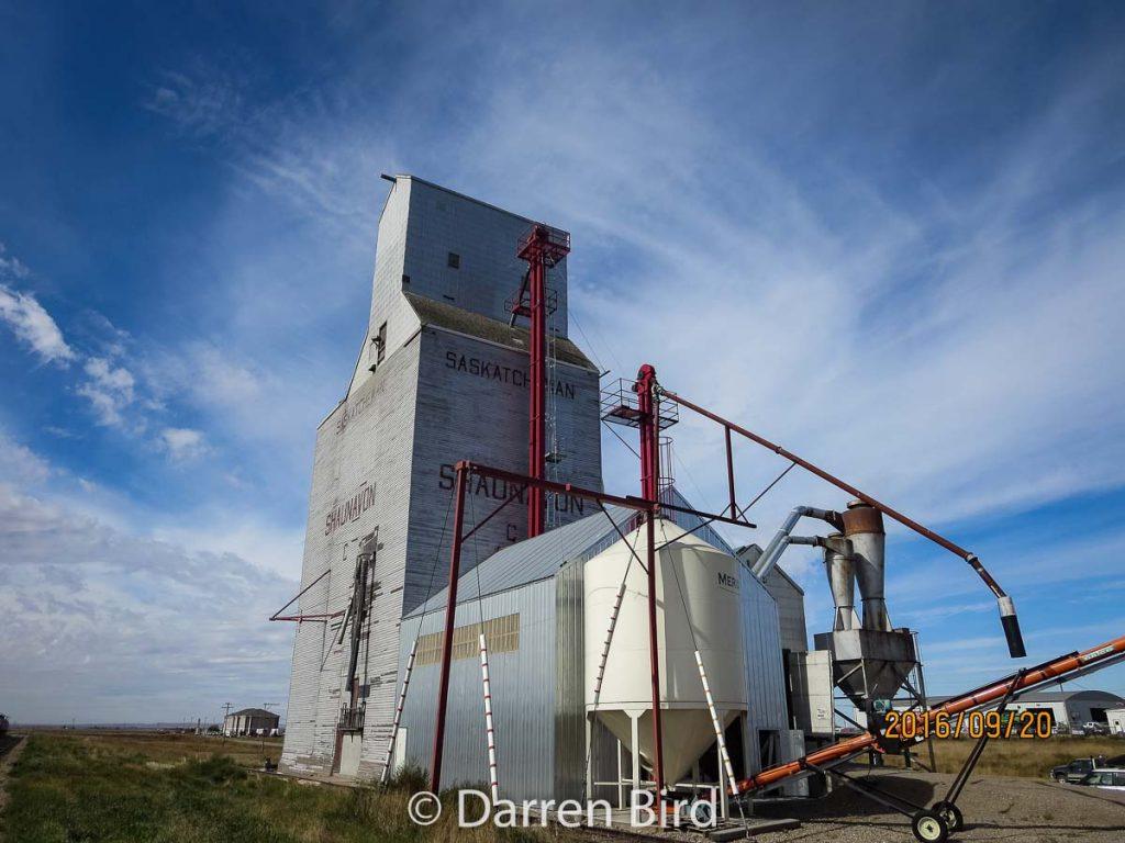 "The Shaunavon ""C"" grain elevator, Sep 2016. Contributed by Darren Bird."