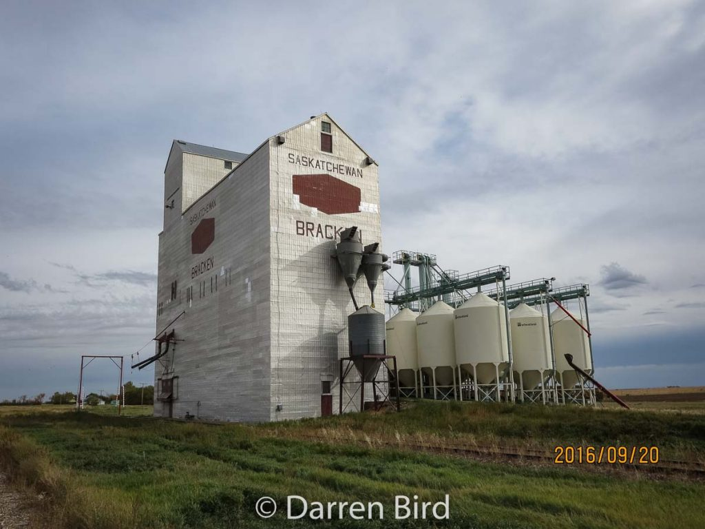 Grain elevator in Bracken, SK. Contributed by Darren Bird.