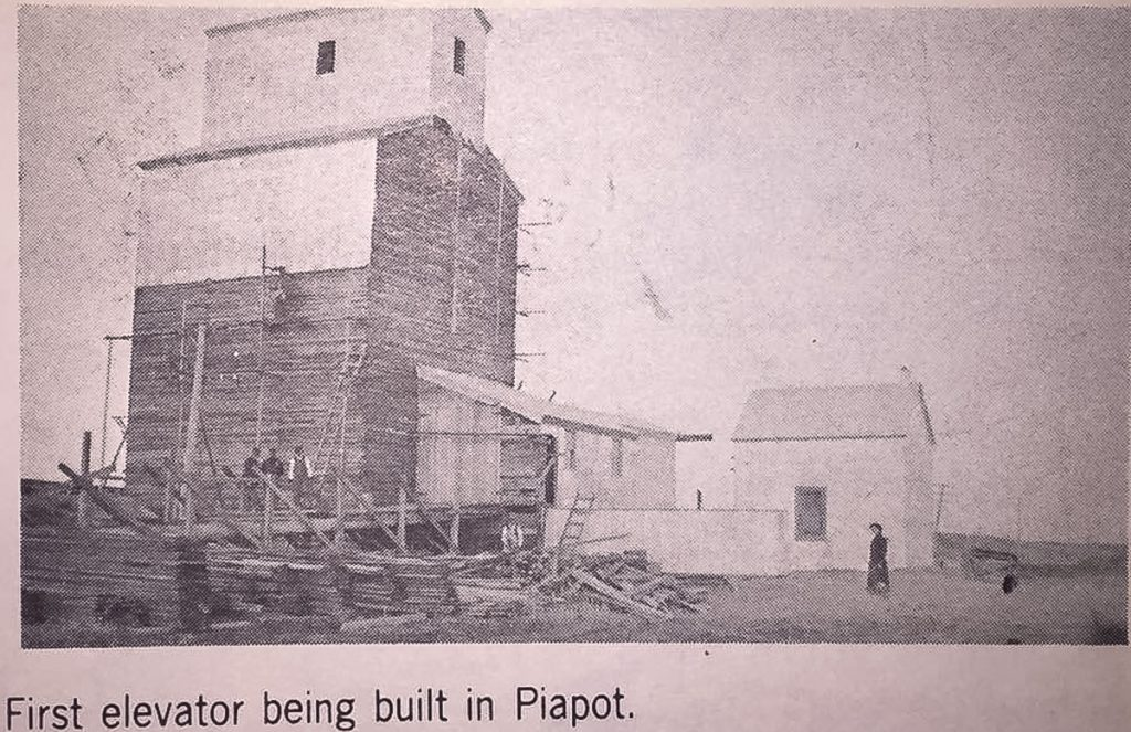First elevator being built in Piapot, SK.