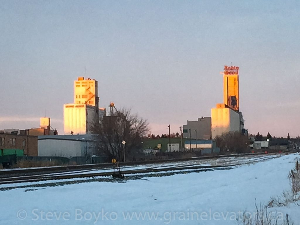 Saskatoon grain elevators, Feb 2015. Contributed by Steve Boyko.