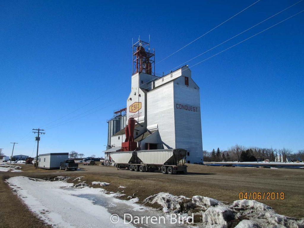 CSI:Conquest grain elevator in Conquest, Apr 2018. Contributed by Darren Bird.
