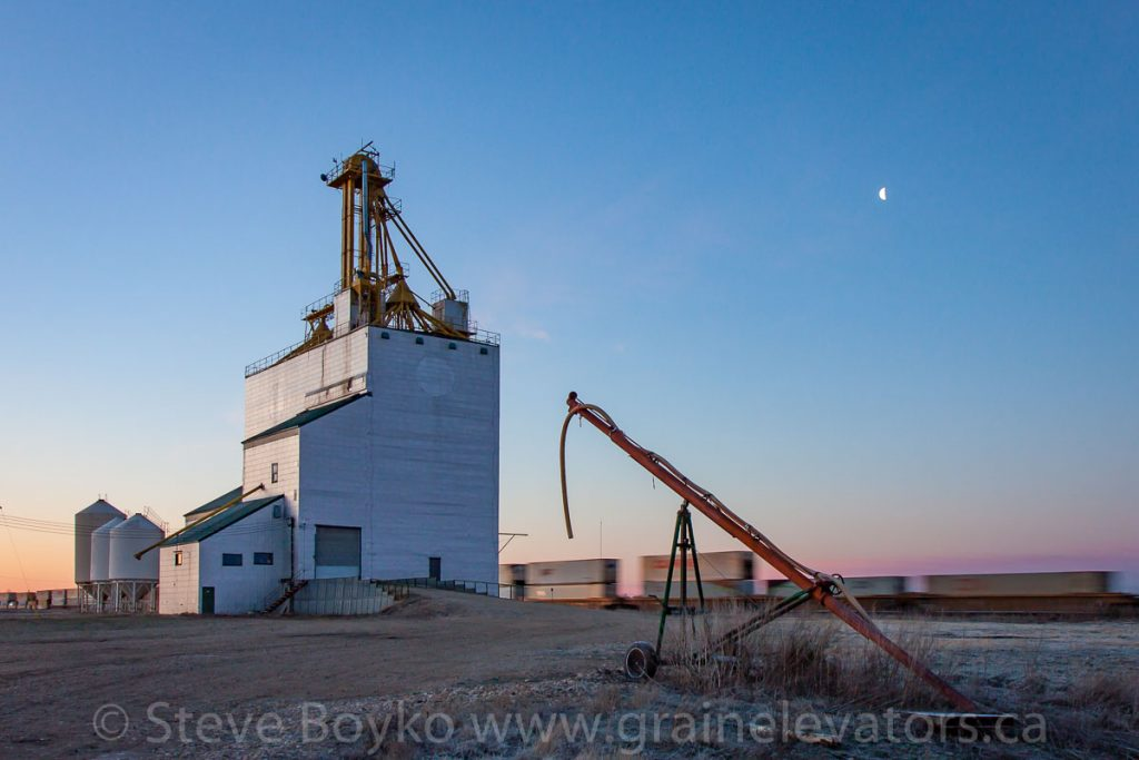 The Elie, MB grain elevator, Apr 2017. Contributed by Steve Boyko.