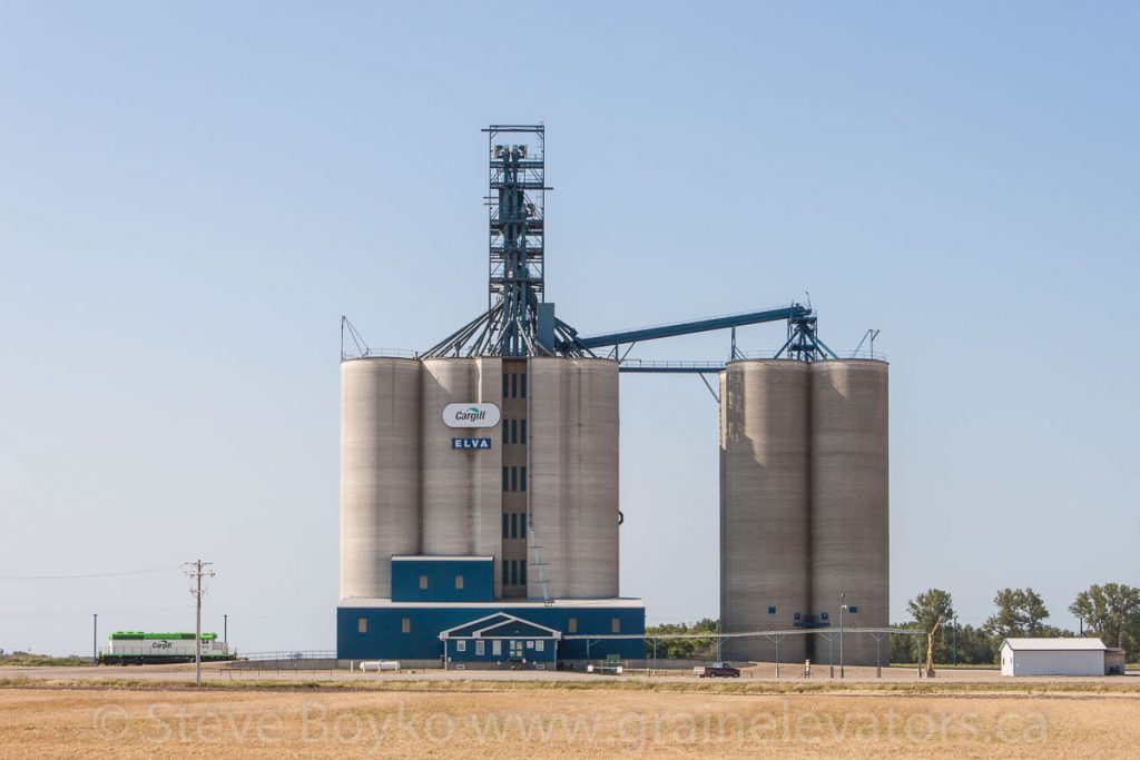 The Cargill grain elevator outside Elva, MB, Aug 2014. Contributed by Steve Boyko.