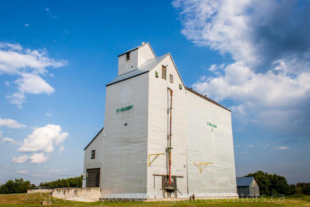 Ethelbert, MB grain elevator, June 2015. Contributed by Steve Boyko.