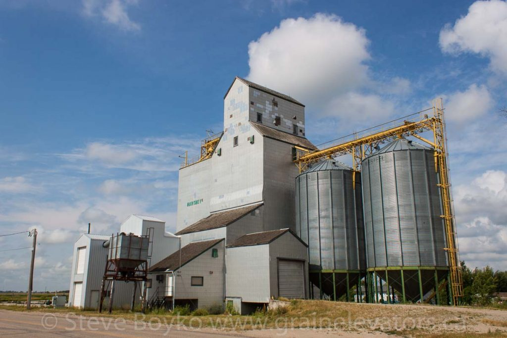 Grain elevator in Hartney, MB, Aug 2014. Contributed by Steve Boyko.