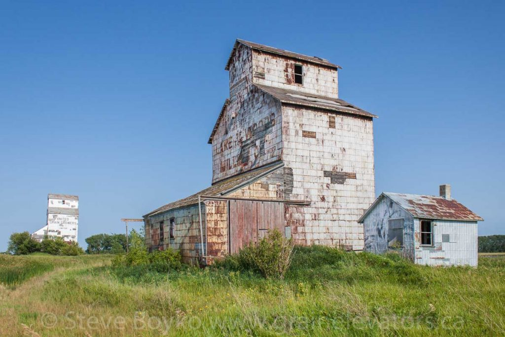 The Lake of the Woods grain elevator in Elva, MB, Aug 2014. Contributed by Steve Boyko.
