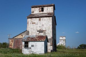 The grain elevators in Elva, MB, Aug 2014. Contributed by Steve Boyko.