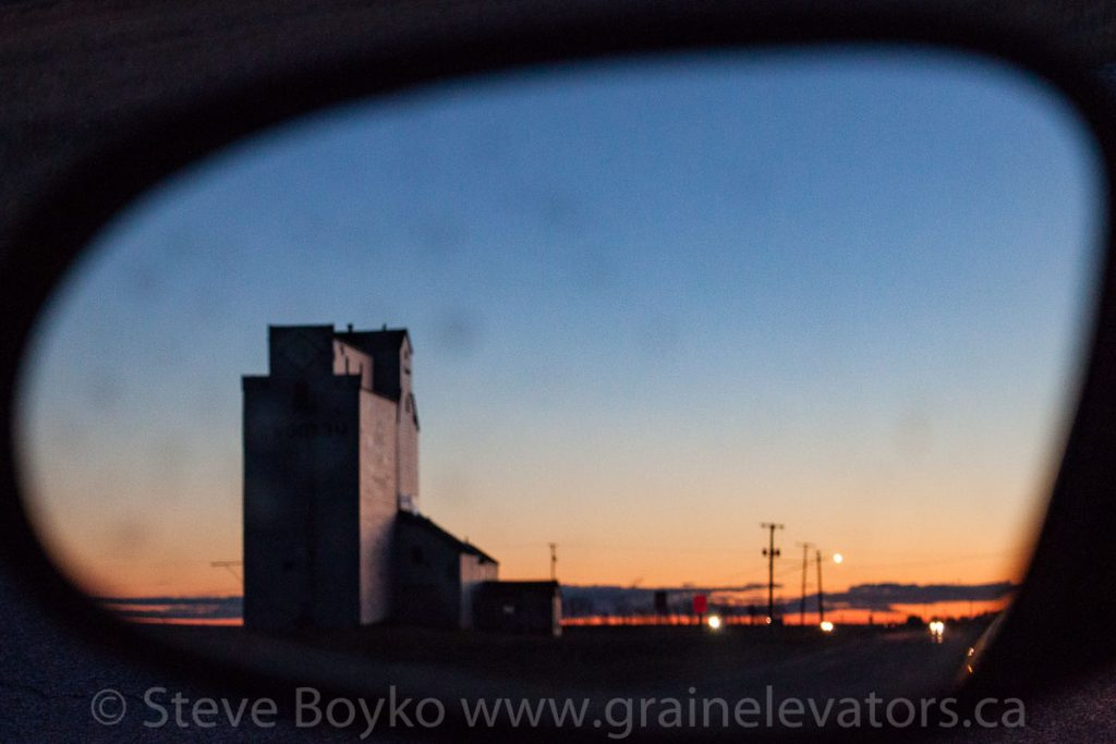 Marquette, MB in the rear view mirror. Contributed by Steve Boyko.
