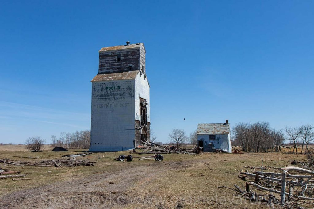 "McConnell ""B"" grain elevator, April 2016. Contributed by Steve Boyko."