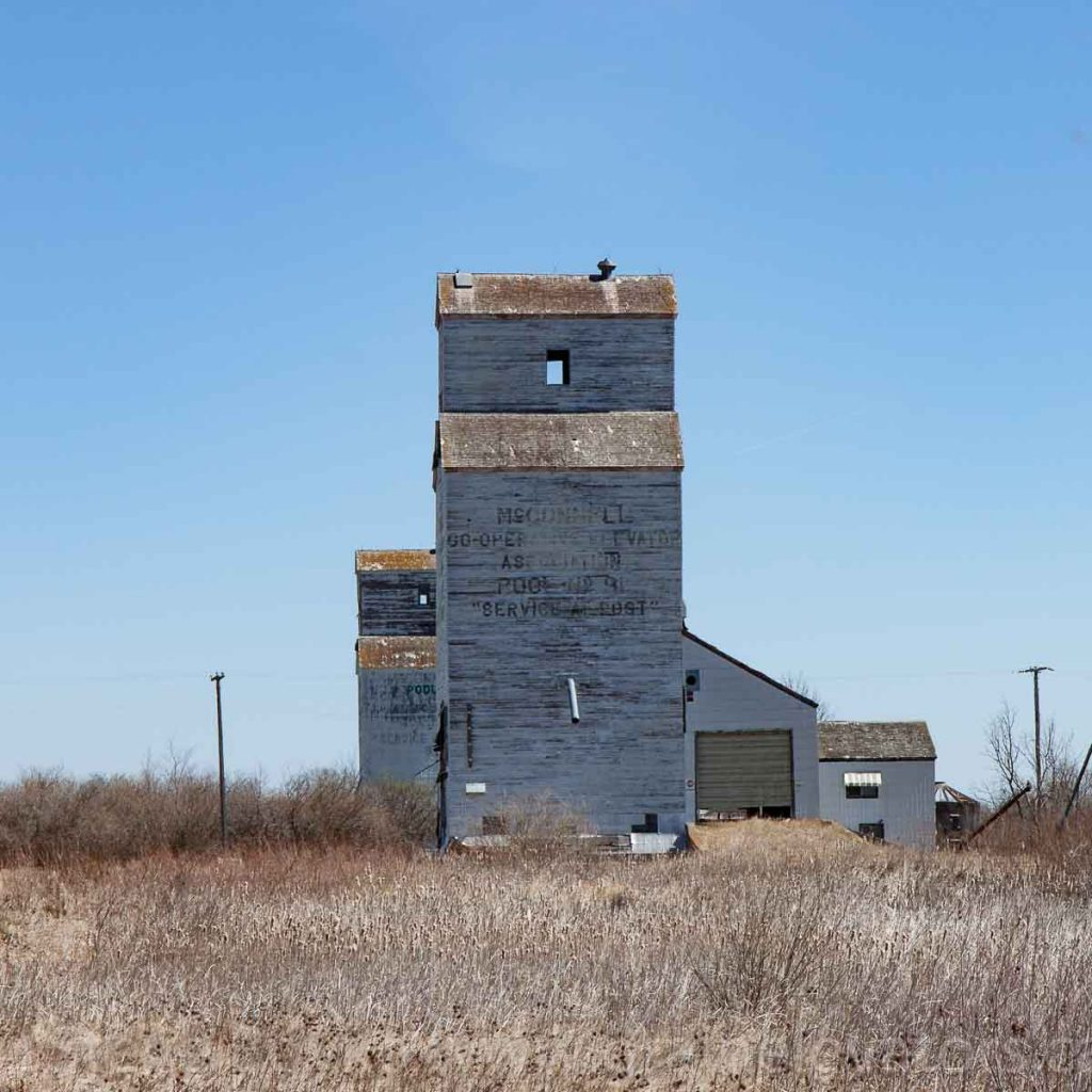 McConnell grain elevators, April 2016. Contributed by Steve Boyko.